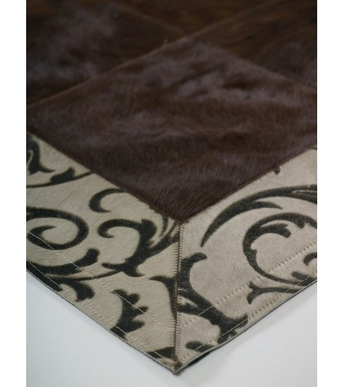 LASER BROWN-BEIGE BORDER